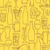 Beer cocktail and alcohol background — Vettoriale Stock