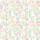 Beer cocktail and alcohol background — Cтоковый вектор