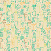 Beer cocktail and alcohol background — Stok Vektör