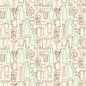 Beer cocktail and alcohol background — ストックベクタ
