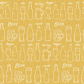 Assorted beer background — Stockvektor