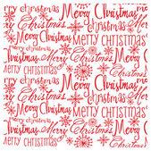Noel kelimeler desen — Stok Vektör