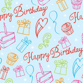 Happy Birthday pattern — Vettoriale Stock