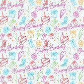 Happy Birthday pattern — Stock Vector