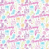 Modello di buon compleanno — Vettoriale Stock