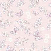 Flowers and butterflies background. — Cтоковый вектор
