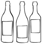 Wine bottles — Vector de stock