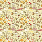 Breakfast background — Stock Vector