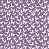 Pattern with butterflies — ストックベクタ
