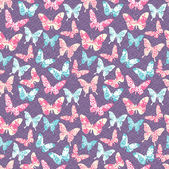 Pattern with butterflies — Vetorial Stock