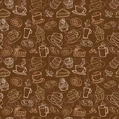 Coffee and cakes  pattern — Wektor stockowy