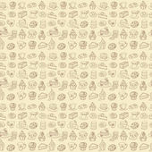 Coffee and cakes  pattern — Vetorial Stock