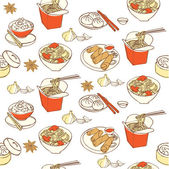 Chinese food pattern — Stock Vector