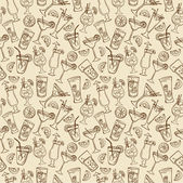 Cocktail drinks pattern — Stockvector