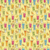 Cocktail drinks pattern — Stockvektor