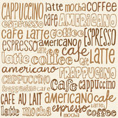 Coffee words   background — Vetorial Stock