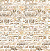 Coffee words   background — Stock Vector