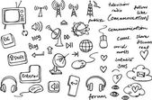 Communication and internet doodles — Stock vektor