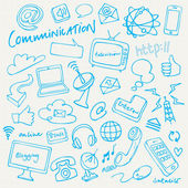 Communication and internet doodles — Stock Vector