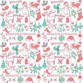 Christmas doodles — Stock Vector