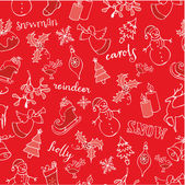 Christmas doodle pattern — Stock Vector