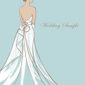 Novia vestido de novia — Vector de stock
