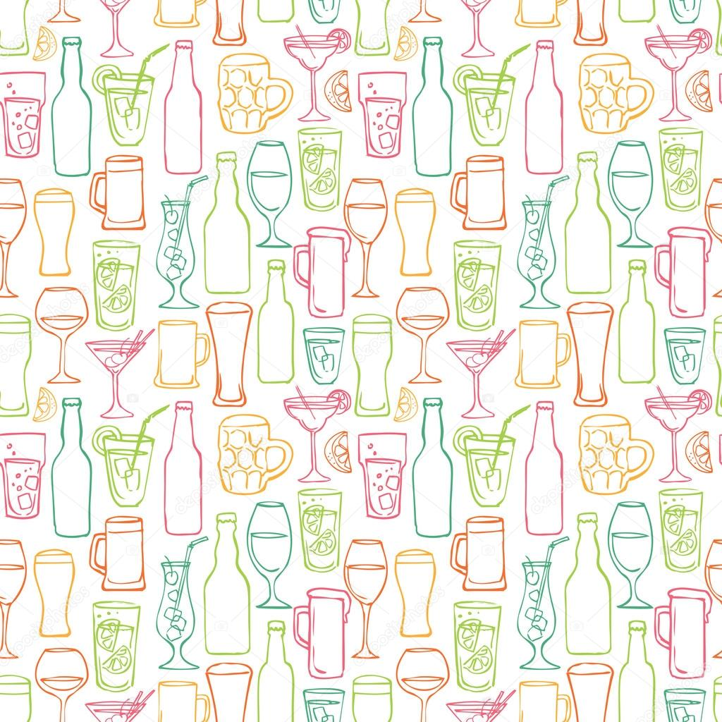 Download - Beer cocktail and alcohol background — Stock Illustration ...