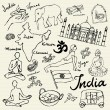 India icons doodle — Stock Vector #48691829
