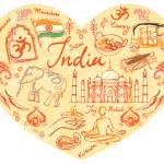 I Love India — Stock Vector #48692629