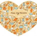 Постер, плакат: I Love My Kitchen