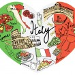 Italy icons — Stock Vector #48698031