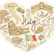 Italy icons — Stock Vector #48698033