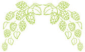 Hops border — Stock Vector