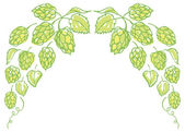 Hops border — Stockvektor