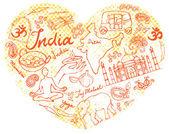 I Love India — Stock Vector
