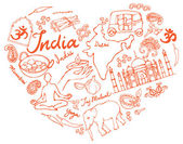 I Love India — Stockvektor
