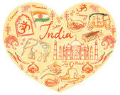 I Love India — Stock Vector