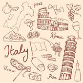 Italy icons — Vector de stock