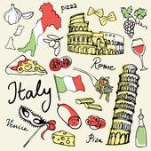 Italy icons — Vector de stock