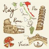 Символы Италии — Cтоковый вектор