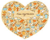 I Love My Kitchen — Stock Vector