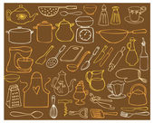 Kitchen elements — Stockvector