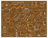 éléments de cuisine — Vecteur