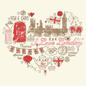 Londra seviyorum — Stok Vektör