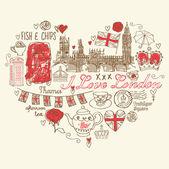 Ich liebe london — Stockvektor