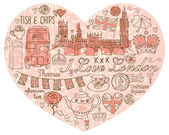 I Love London — Stock Vector
