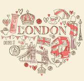 I Love London — Stock Vector