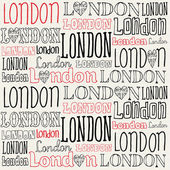 London typography — Stock Vector