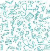 Iconos de medicina — Vector de stock