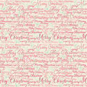 Christmas words and holly — Stock Vector